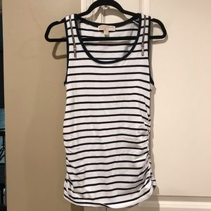 Michael Kors navy and white striped tank